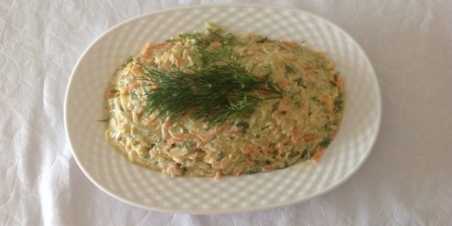 Kabaklı, havuçlu salata